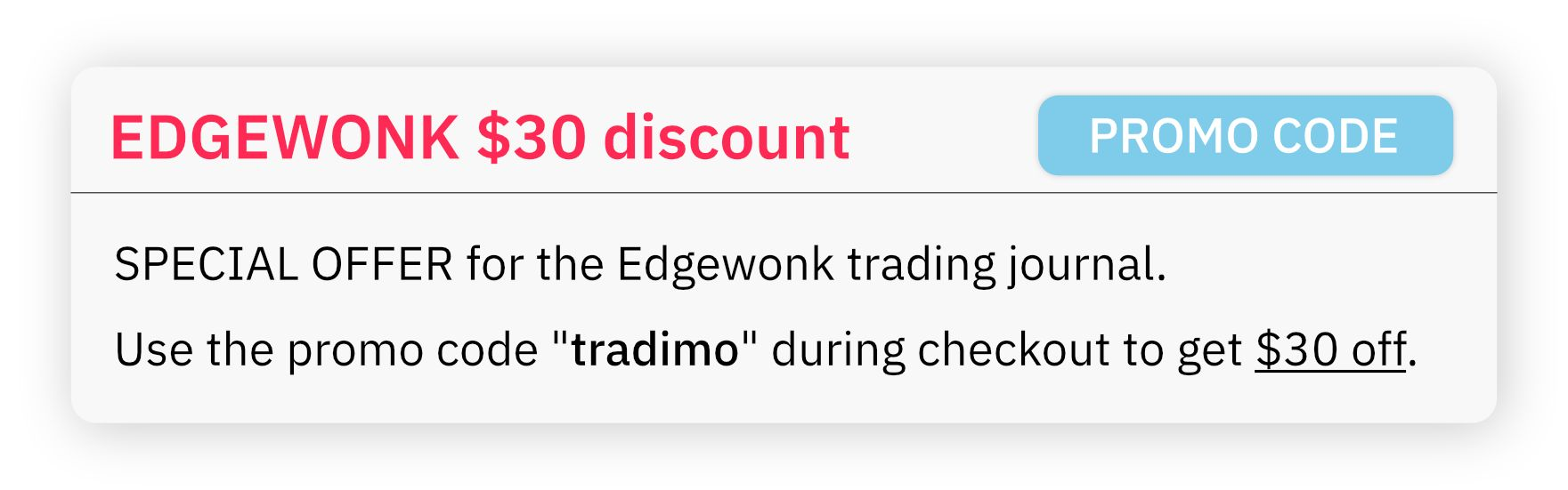Edgewonk trading journal discount