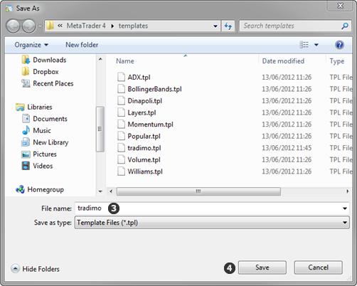 保存模版文件